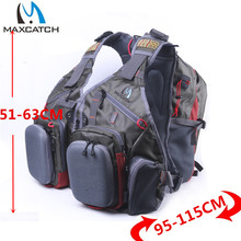 Maxcatch Fly Fishing Vest With Multifunction Pockets Size Adjustable Fishing Backpack.(China)