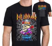 DEF LEPPARD Poison & Tesla 2017 Tour T shirt Men two sides cotton casual gift tee USA Size S-3XL(China)