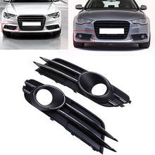 1 Pair For Audi A6 C7 Sedan/Avant 2011-2015 pre-facelift Car Grille Vent Left&Right Side Front Bumper Lower Grille Grill Cover