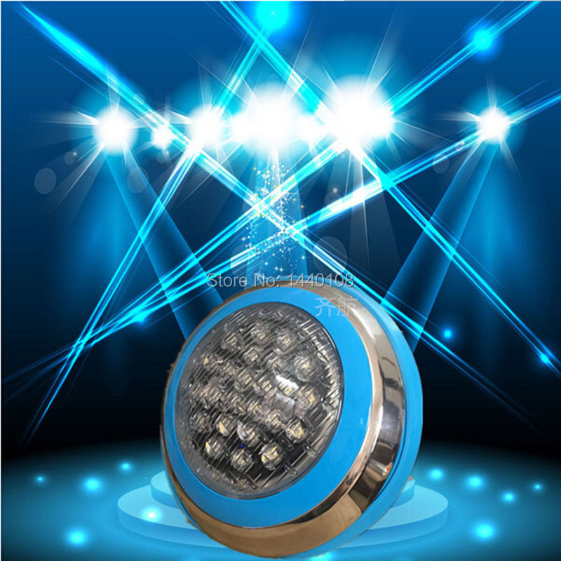24w  led round swimming spot lamp Stainless RGB  Ac12V/24v LED Underwater Landscape Lamp Swimming Pool Wall Lamp<br><br>Aliexpress
