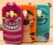 3D Cartoon Animal Monsters Sulley Tigger Marie Alice Cat Slinky Dog Silicone Case Cover For Samsung Galaxy S3 mini i8190