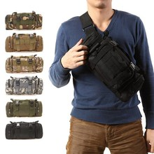 3L Tactical Bag Sport Bags 600D Waterproof Oxford Military Waist Pack Molle Outdoor Pouch Bag Durable Backpack forCamping Hiking(China)