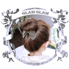 New Arrival Women's Fashion Rivet Double-Layer Bow Hairpin Hair Barrette Hair Accessory(China)