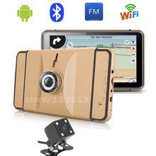 KONNWEI New 7 inch Car GPS Navigation Android car rear view DVR truck automobile navigator map automotive sat nav(China)