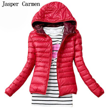 Free shipping 2016 Women Winter Jackets High Quality Women Coat Casual Hooded Slim Women Jacket Parka  thin Outwear 28hfx