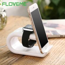 FLOVEME U-Shape Phone Holder Stand For iPhone 6 6S 7 8 Plus X Android Charging Dock For Apple Watch Stable Phone Support Bracket