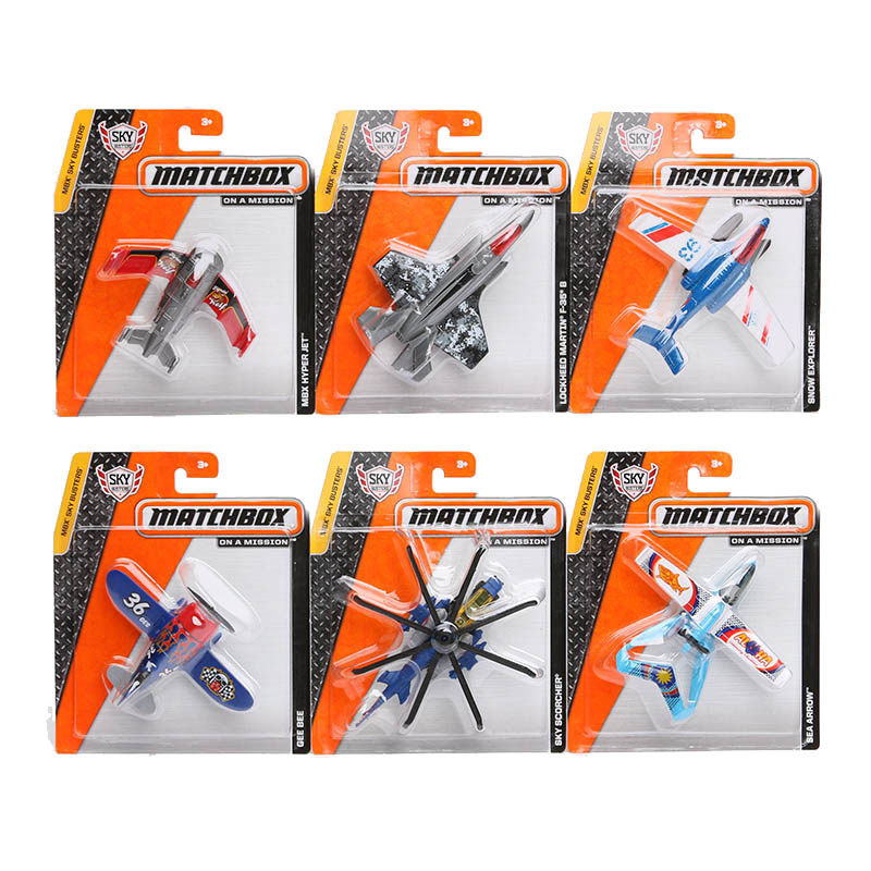5pcs/lot MBX Matchbox City of Heroes Series Model Fighter Plastic metal aircraft model Toy airplane F-35 Helicopters toy for boy(China (Mainland))