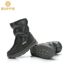 Buffie Brand Quality Women Snow Boots Mixed Natural Wool Lining Lady Warm Shoes Girl fashion silver Winter Boots free shipping