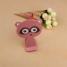 Cartoon Small Raccoon Cellphone Holder Tablet Support Bracket With Mirror O8 #15