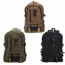Men Women Mountaineering Backpack Canvas Sport Bags Schoolbag Travel Rucksack Outdoor Camping Hiking Backpack Large Storage Bag