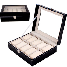 Large capacity PU leather watch storage box / counter display box jewelry store bracelet box