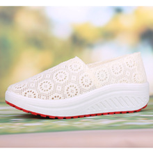 2017 Massage Breathable Hot Sale Real Summer Shoes Women's Shoes Sport Fashion Women Swing Wedges free Shipping 557