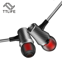 TTLIFE Super Bowl Tuning Nozzles  Earphones Monitors Mic Earbud Earphones Headset  Noise CancellingSound For Listening Music