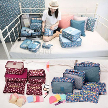 6pcs/set Travel Organizer Bag Closet Divider Portable Storage Case Luggage Suitcase Underwear Clothes Tidy Organizer Packing bag