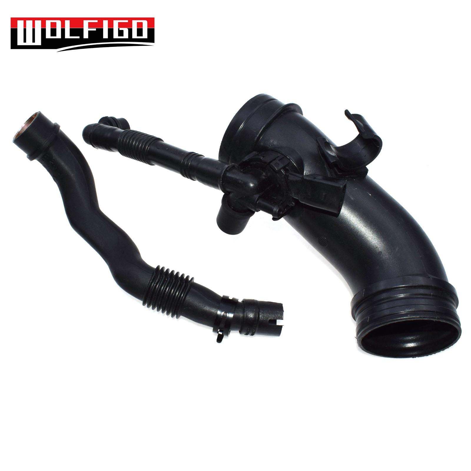 eGang/Auto New 2PCS Crankcase Breather Hose Pipe 06B133354P,06B103217M For VWS Passat B5 2001 2002 2003 2004 2005 2006 2007 2008