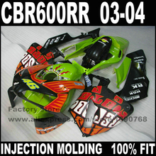 Injection motorcycle part for  CBR 600 RR  2003 2004 CBR600RR fairings  03 04 rossi Limited edition repsol fairing