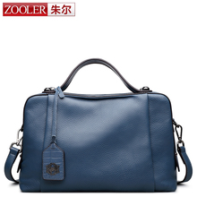 ZOOLER genuine leather bag 2017 new high end & delicate designed real leather bag boston pillow shoulder bag bolsa feminina#8119