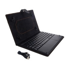 Bluetooth Wireless Keyboard Cover Case with Touchpad for 9 to 10 Inch Tablet PC