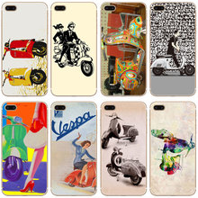 G368 Vespa Scooter Transparent Hard Thin Case Cover For Apple iPhone 4 4S 5 5S SE 5C 6 6S 7 Plus