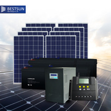 Bestsun Poly China Complete Set of 2kw Solar Power System off Grid High Configuration 8 pieces 250w Solar Panels With Battery(China)