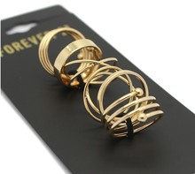 2015 Latest Fashion Punk Stackable Midi Ring Sets For Women Bagues Ensemble Bijoux Wholesale XY-R369