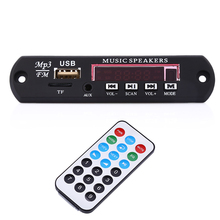 Universal Car MP3 Player Digital Auto USB Player Decoder Board Panel Support FM/Radio/USB/TF/AUX Remote Control Memory Function