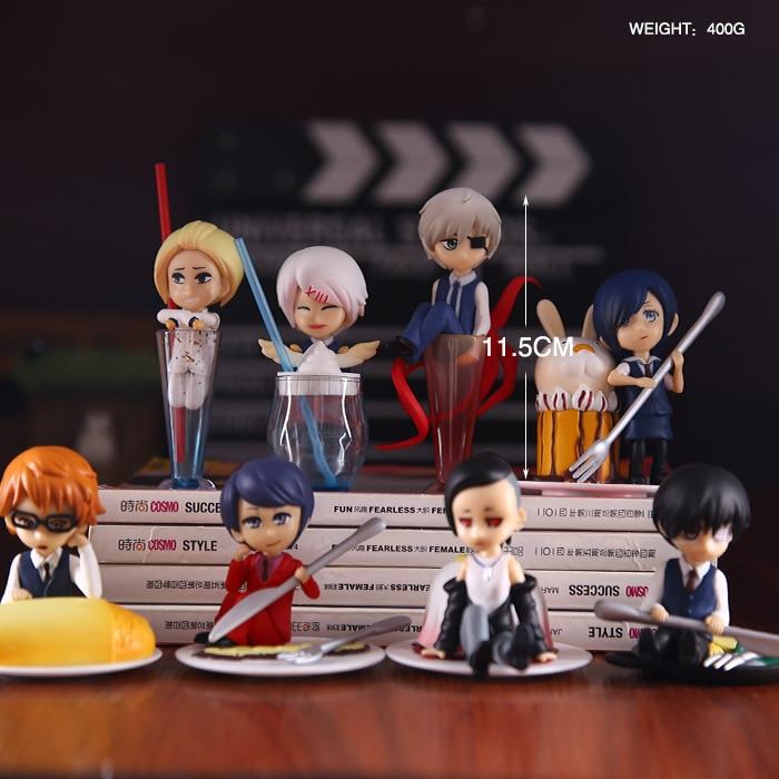Free Shipping 8pcs Anime Tokyo Ghoul Dessent ver. Kaneki Ken Touka Kirishima Shuu Tsukiyama PVC Action Figures Model (8pcs set)<br><br>Aliexpress