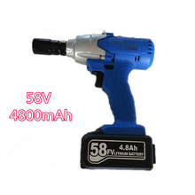 58v rechargeable lithium battery scaffolding timberman Electric impact wrench hand drill hammer hammer installation power tools(China)