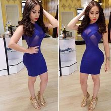 New 2017 Fashion Summer Sleeveless Drees Sexy O-Neck Women Mini Pencil Bodycon Ladies Party Dress Fre shipping