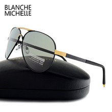Blanche New sunglasses men polarized luxury brand 2017 Aviation sun glasses for Driving High Quality UV400 Eyewear Male
