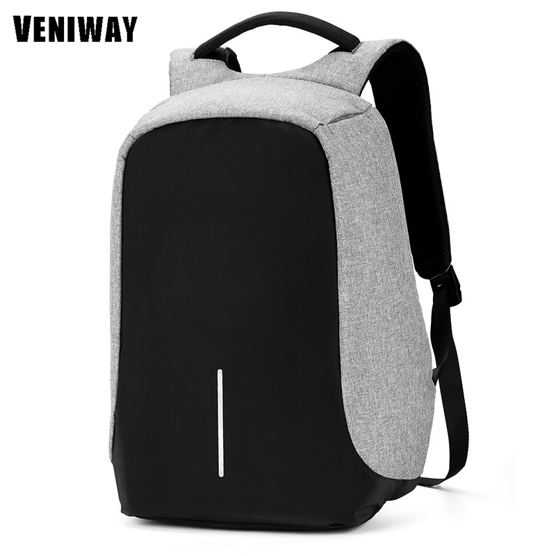 VENIWAY Men Notebook Backpack 15 inches Waterproof Travel Student School Bags For City Anti-theft Computer XD Design Backpack<br>
