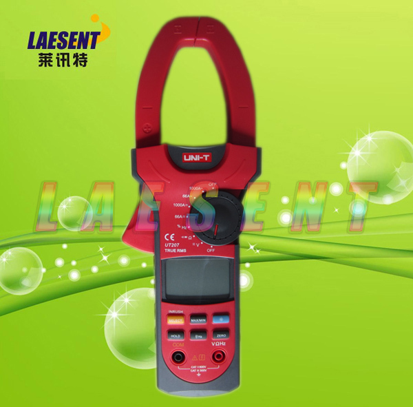 UNI-T UT207A Clamp LCD Digital Multimeter AC DC Volt Amp Ohm Frequence Tester Digital Clamp Meter True-RMS Auto-Range<br><br>Aliexpress
