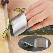 1PC Kitchen Tools Stianless Steel Finger Protector For Cutting Personalized Design Hand Guard Safe Knife Chop Slice Shield(China)