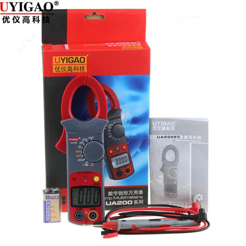 UYIGAO UA200 Digital clamp meter High Accurancy 31/2 AC/DC Current LCD Digital Clamp Multimeter<br><br>Aliexpress
