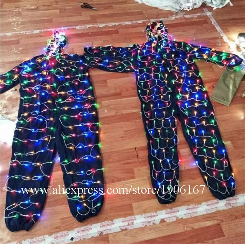 Colorful led luminous robot suit stage perfromance costume03