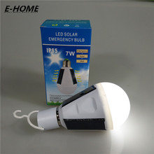 New 7w Solar Lamp Powered Portable Led Bulb Lamp Solar Energy Lamp led Lighting Solar Panel Camp Night Travel Used 5-6hours