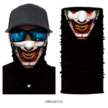 3D Seamless Batman Joker Clown Skull Tube Neck Scarf Face Mask Head Scarves Tubular Bicycle Headband Bandana Headwear