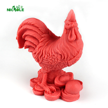 3D Cock Shape Silicone Soap Mold Chocolate Clay Craft Salt Carving Chicken Gallic Rooster Mould(China)