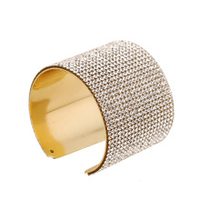 High Quality Fashion Alloy Bangles Fine Full Rhinestone Cuff Bracelets For Women Elegant Party Jewelry Wedding Bangle Good Gift