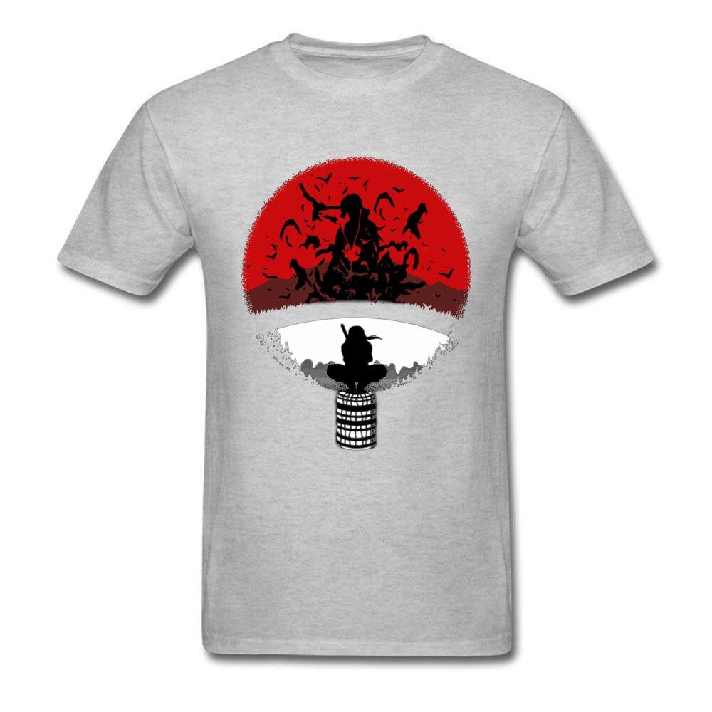 Itachi Uchiha Amazing Clan Round Collar T Shirt Father Day 3D Printed T Shirt Short Sleeve Popular 100% Cotton T Shirt Men's Itachi Uchiha Amazing Clan grey