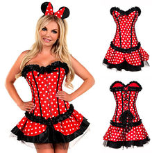 2017 red minnie mouse dress adultos minnie mouse del traje de cosplay de halloween para las mujeres sexy fantasy mujeres al por mayor
