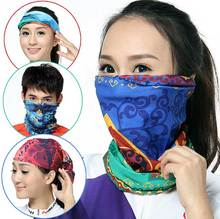 Wholesale 50pcs Men Summer Circle Neck Scarf Band Balaclava Mens Spring Infinity Tube Scarves Women Sun Balaclavas Head Bandana