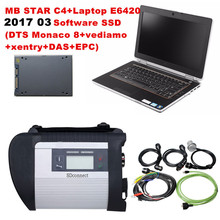 MB star c4 sd connect For Mercedes Benz SD C4+Laptop E6420(I5/4G)+2017 03 DTS software SSD car diagnostic tools DHLFree Shipping