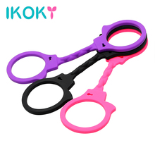 Buy IKOKY Silicone Handcuffs Flirting Toys SM Bondage Hand Cuffs Restraints Sex Toys Couples Adult Games Role-playing Sex Shop