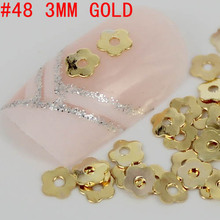New 300pcs Special Flower Shaped 3D Metal Nail Art Secoration Gold/Silver Nail Art Metallic Studs Sticker DIY Women Beauty Nails(China)