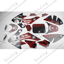3M Decals Emblems Stickers Graphics CRF50 SSR SDG DHZ Thumpstar pit dirt Bike Red/Black Colour5(China)
