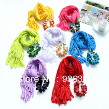 Unique scarf! Autumn and winter for women scarves, National wind pendant scarf necklace. FREE SHIPPING !
