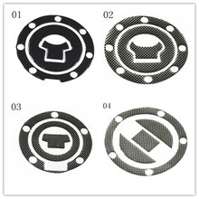 Free shipping 1pcs Carbon Fiber Tank Pad Tankpad Protector Sticker For Motorcycle Universal(China)