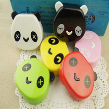 1PCS New Cartoon Cute Panda face Travel Glasses Contact Lenses Box Contact lens Case for Eyes Care Kit Holder Container Gift #2