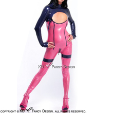 Buy Sexy Latex Catsuit Bows Gloves Feet Back Crotch Zipper Rubber Catsuit Body Suit Bodysuit Zentai Overall LTY-0115
